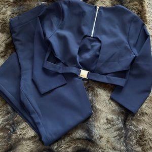 Navy blue pants set